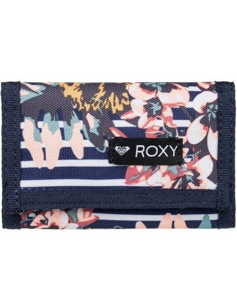 Roxy Small Beach 2 Polyester Wallet in Medieval Blue Boardwalk