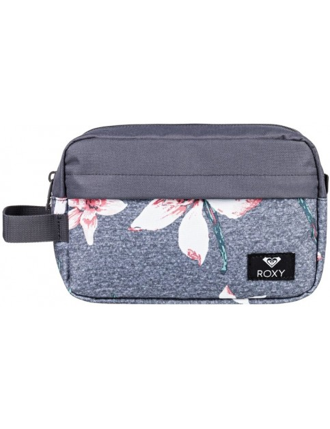 Roxy Beautifully Wash Bag in Charcoal Heather Flower Field