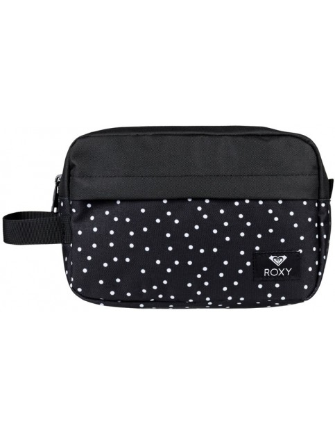 Roxy Beautifully Wash Bag in True Black Dots For Days