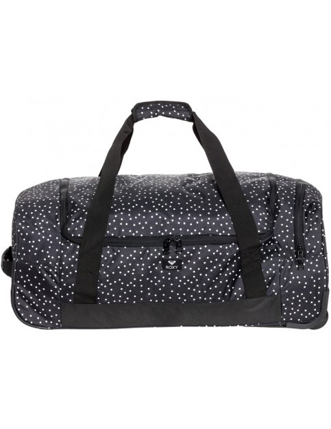 Roxy Distance Accross Wheeled Luggage in True Black Dots For