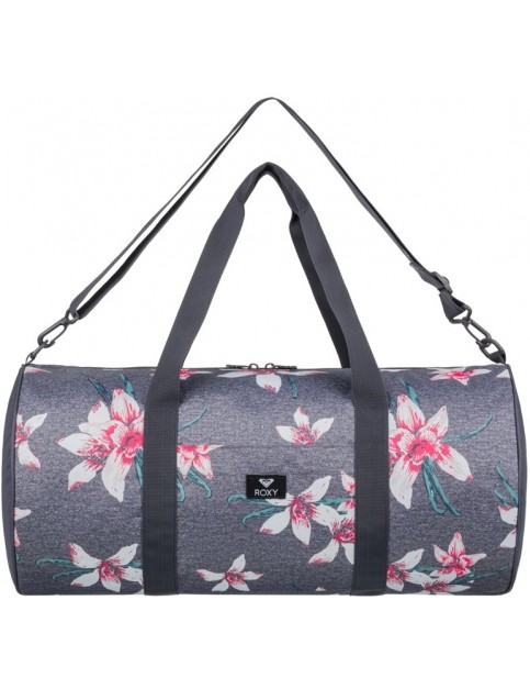 Roxy Kind Of Way Holdall in Charcoal Heather Flower Field