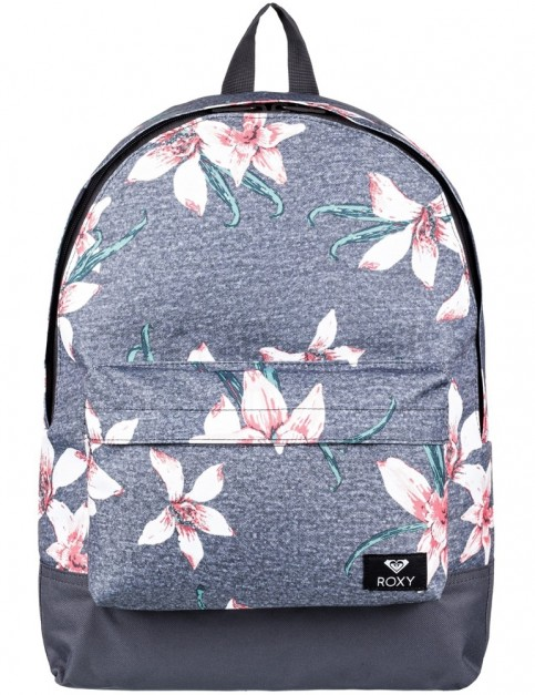 Roxy Sugar Baby Backpack in Charcoal Heather Flower Fields