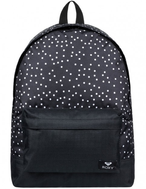 Roxy Sugar Baby Mix Backpack in True Black Dots For Days