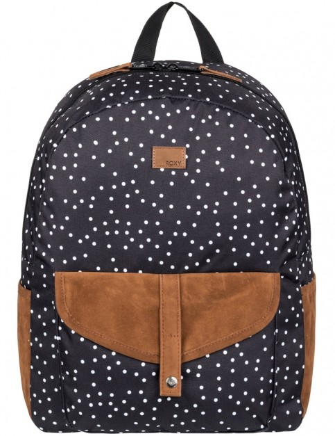 Roxy Carribean Backpack in True Black Dots For Days