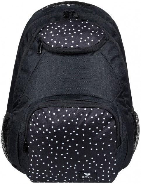 Roxy Shadow Swell Mix Backpack in True Black Dots For Days