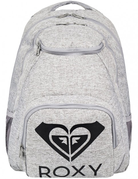 Roxy Shadow Swell Solid Logo Backpack in Heritage Heather