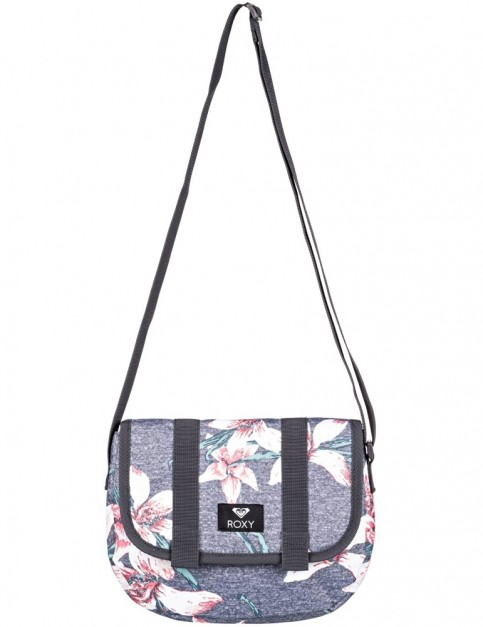 Roxy Back On You Cross Body Bag in Charcoal Heather Flower Fields