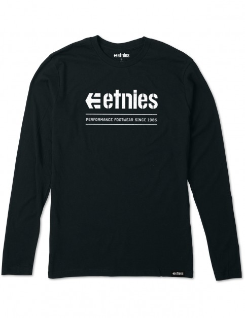 Etnies Alters Long Sleeve T-Shirt in Black
