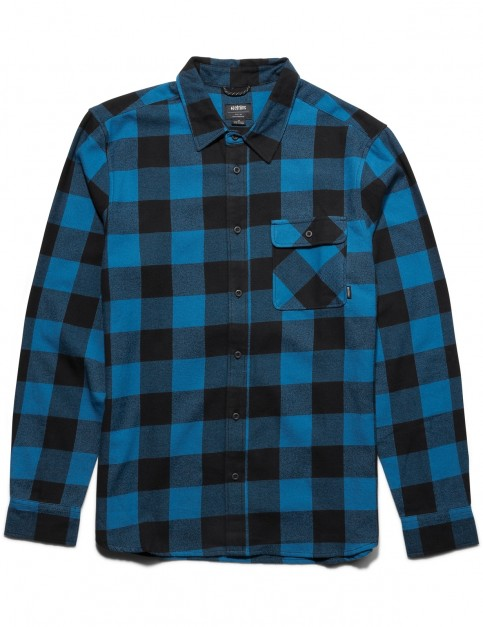 Etnies Axel Flannel Long Sleeve Shirt in Blue / Black