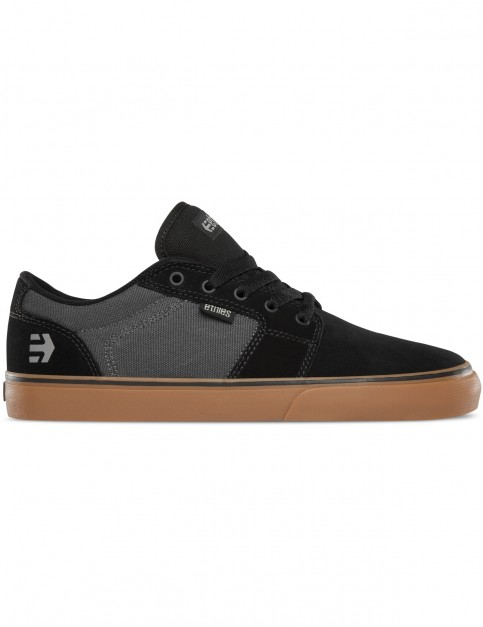 Etnies Barge LS Trainers in Black / Dark Grey / Gum