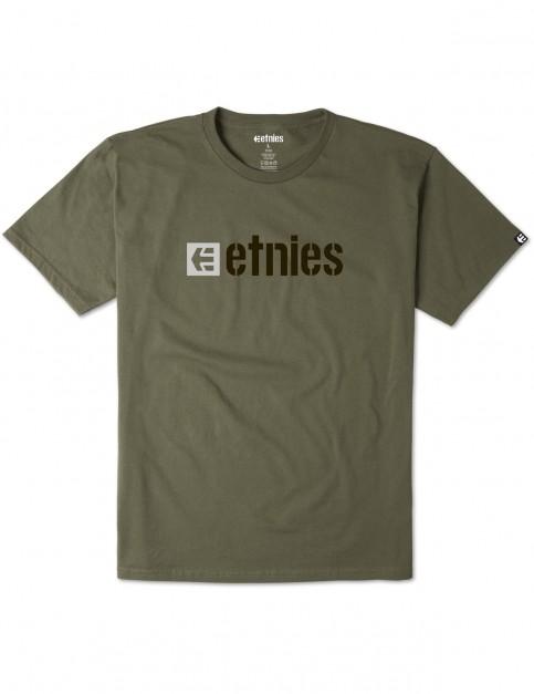 Military Etnies Box Logo Short Sleeve T-Shirt