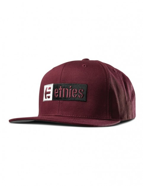 Etnies Corp Box Mix Snap Cap in Burgundy