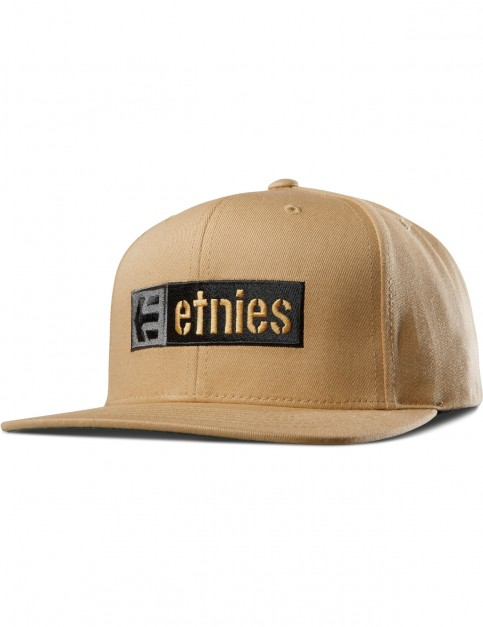 Etnies Corp Box Mix Snap Cap in Mustard