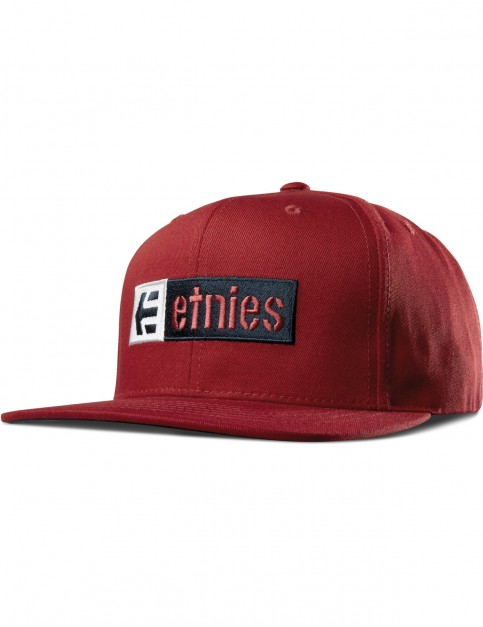 Etnies Corp Box Mix Snap Cap in Red