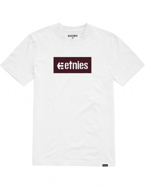 Etnies Corp Box Short Sleeve T-Shirt in White