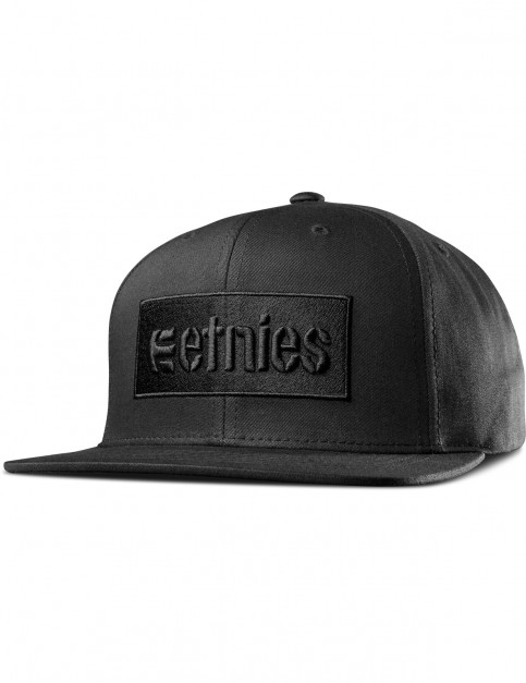 Etnies Corp Box Snapback Cap in Black