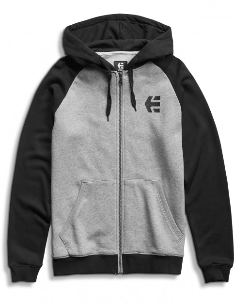 Etnies E-Corp Zipped Hoody in Grey/Heather