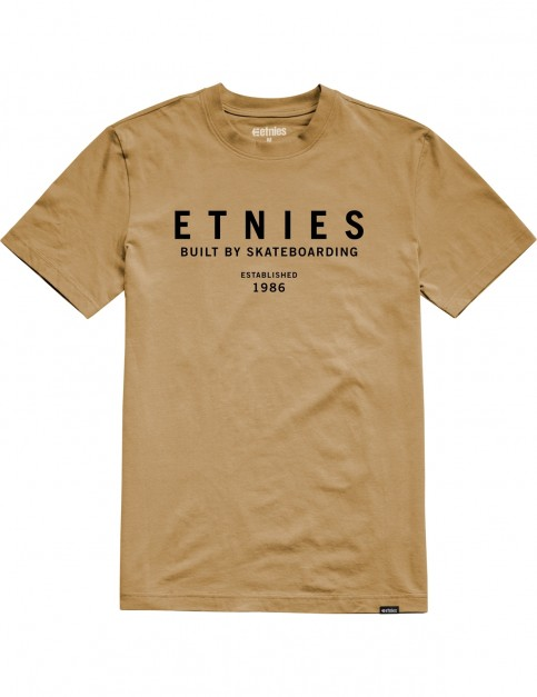 Etnies Established Short Sleeve T-Shirt in Mustard