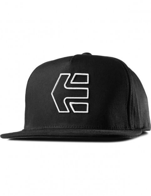 Black/White Etnies Icon 7 Snapback Cap