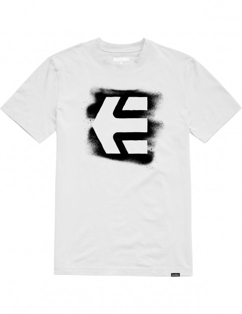 Etnies Icon Sprayed Short Sleeve T-Shirt in White
