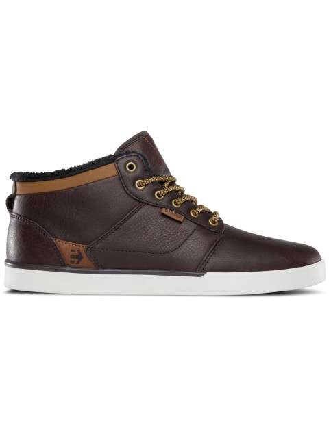Etnies Jefferson Mid Trainers in Brown / White