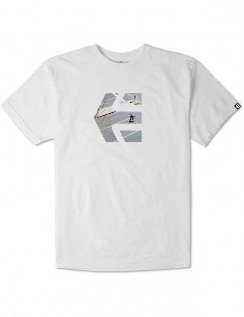 White Etnies Julian Tre Icon Short Sleeve T-Shirt