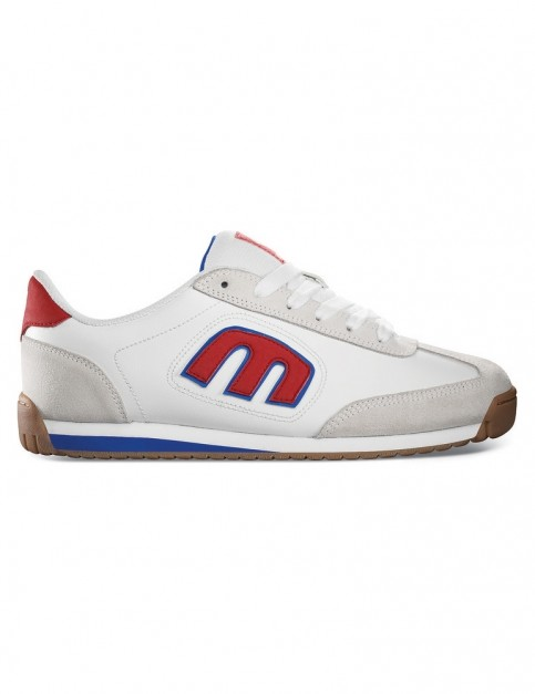 Etnies Lo-Cut II LS Trainers in White/Blue/Red