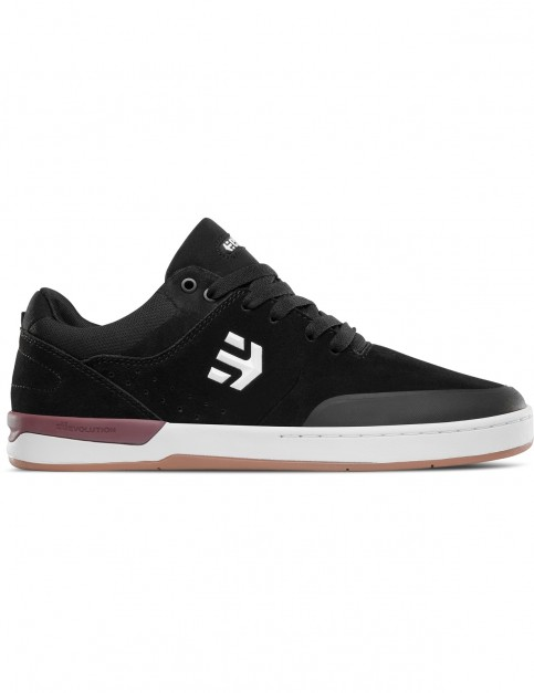 Etnies Marana XT Trainers in Black/White/Burgundy