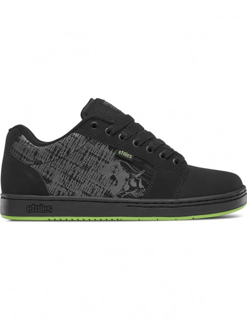 Etnies Metal Mulisha Barge Xl Trainers in Black/Lime