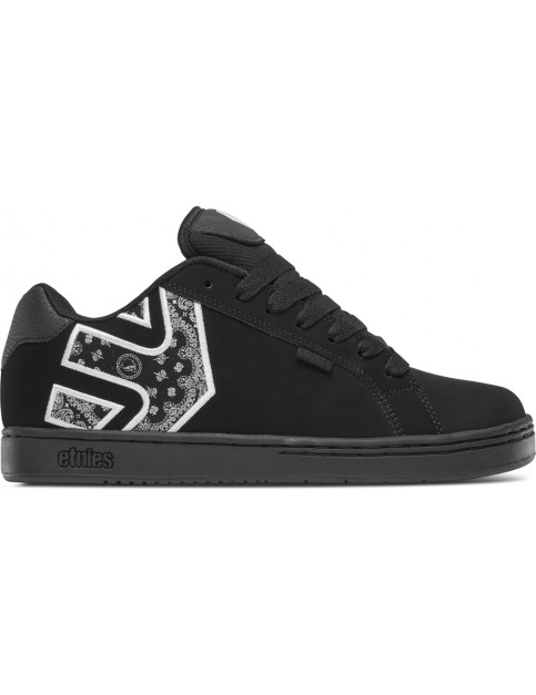 Etnies Metal Mulisha Fader Trainers in Black/White/Black