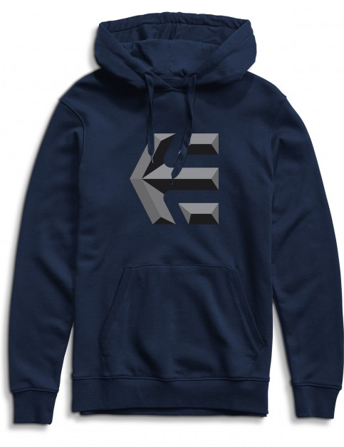 Etnies Mid Icon Pullover Hoodie in Navy