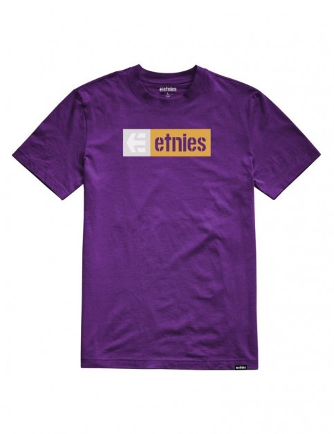 Etnies New Box Short Sleeve T-Shirt in Purple