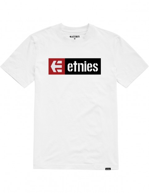 Etnies New Box Short Sleeve T-Shirt in White