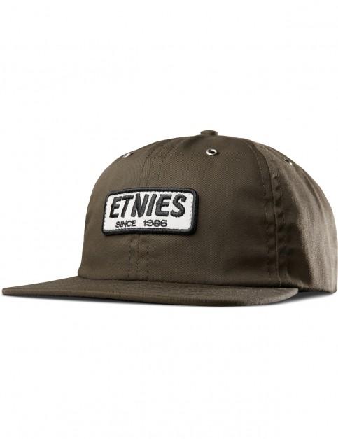 Etnies Seager Strapback Cap in Olive