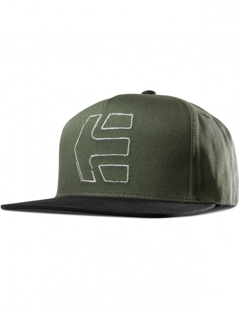 Etnies Sketch Icon Snap Cap in Olive/Black