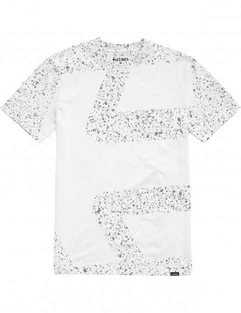 Etnies Speckle Icon Short Sleeve T-Shirt in White