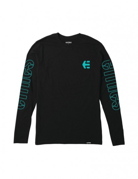 Etnies Stencil Long Sleeve T-Shirt in Black/White