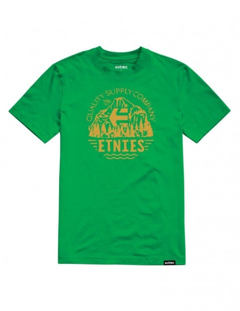 Etnies Yosemite Short Sleeve T-Shirt in Kelly Green
