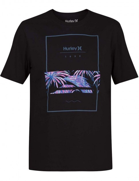 Hurley Chasing Paradise Short Sleeve T-Shirt in Black