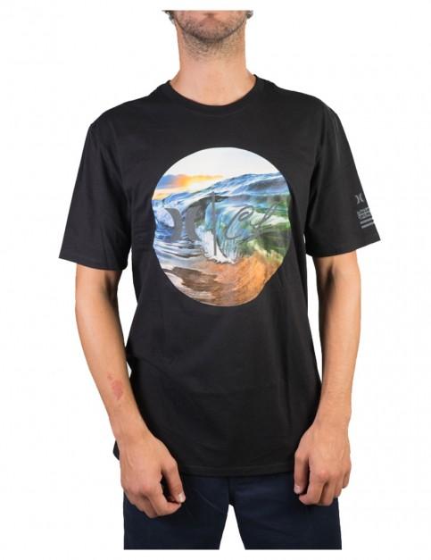 Black Hurley Clark Little Rise Short Sleeve T-Shirt
