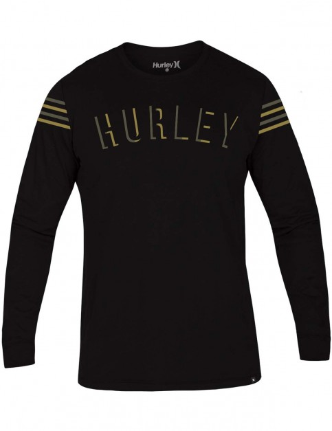 Hurley Core Patches Long Sleeve T-Shirt in Black