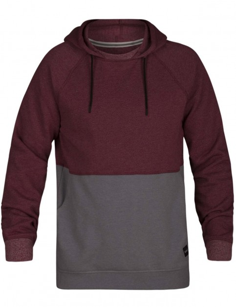 Hurley Crone Blocked Sweatshirt in Team Red Heather