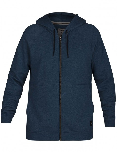Hurley Crone Zipped Hoody in Blue Force Heather