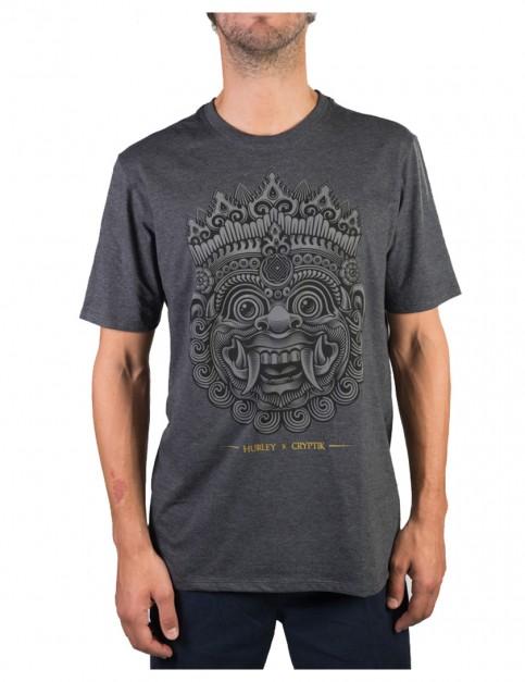 Heather Black Hurley Cryptik Short Sleeve T-Shirt