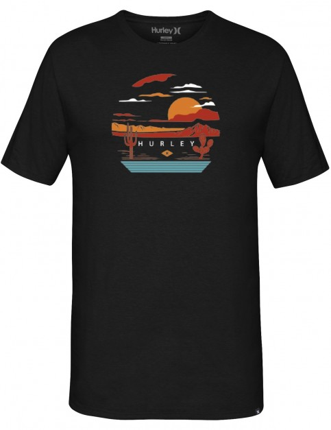 Hurley Desert Trip Short Sleeve T-Shirt in Black
