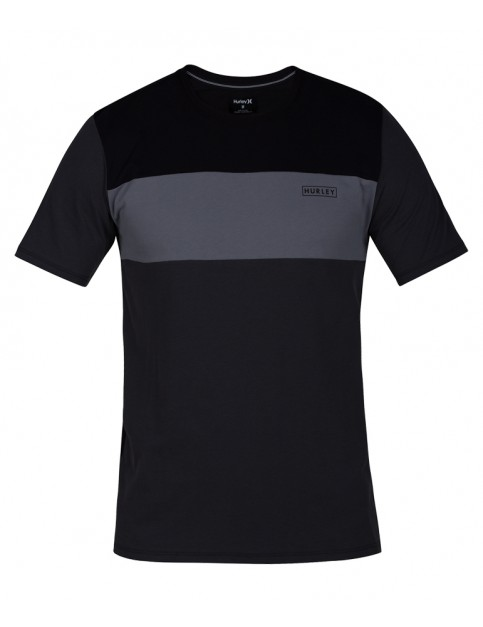 Hurley Dri-Fit Blocked Short Sleeve T-Shirt in Anthracite