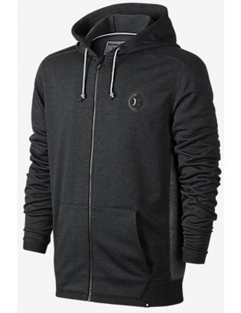 Hurley Dri-Fit Disperse Zipped Hoody in Black