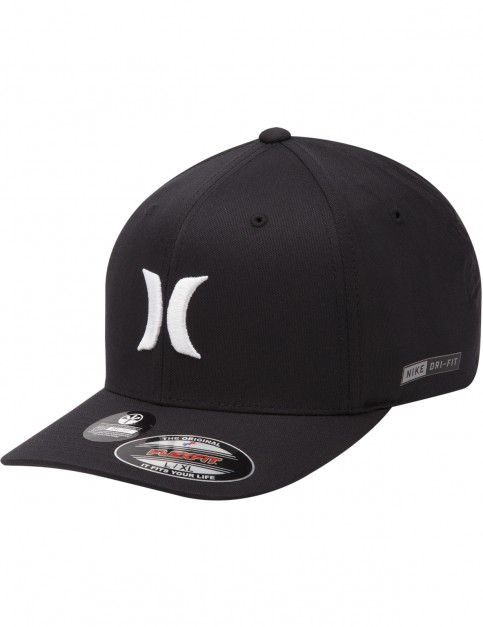Hurley Dri-Fit One & Only Cap in Black White