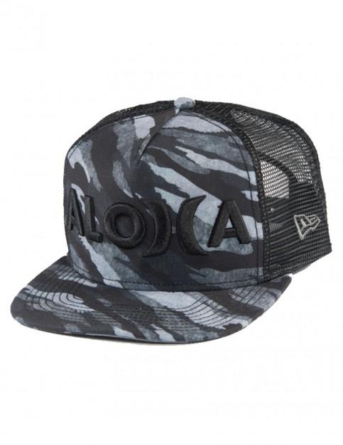 Black Hurley Elite Flow Aloha Cap