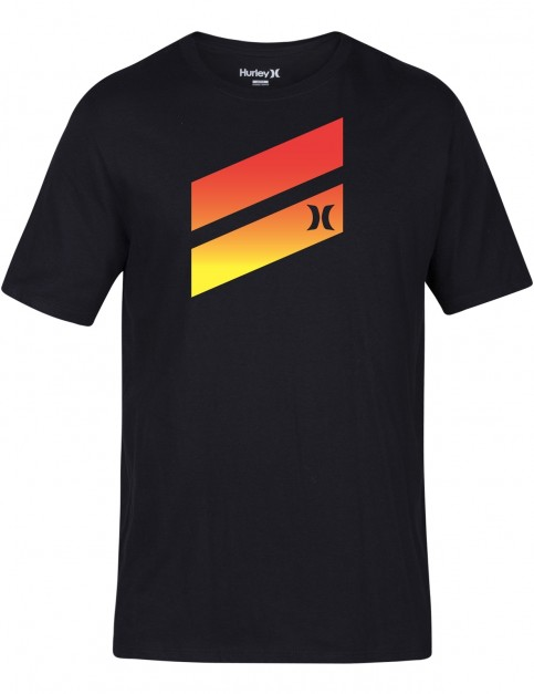 Hurley Icon Slash Gradient Short Sleeve T-Shirt in Black